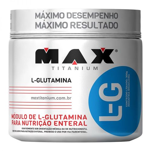 L-g L-glutamina 300gr - Max Titanium
