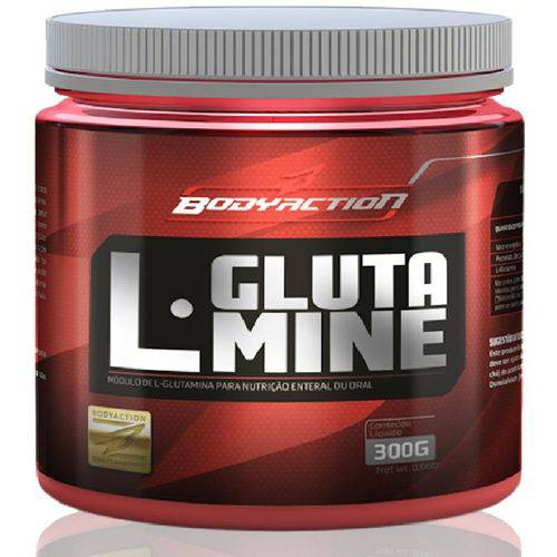 L - Glutamine 300g Bodyaction - Glutamina