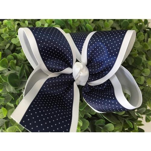 Laço Poás Azul Marinho e Branco