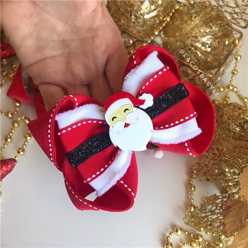Laço Papai Noel (P, Bico de Pato)