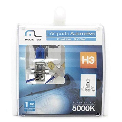 Lâmpada Automotiva H3 12V 55W Super Branca Par Multilaser - AU804