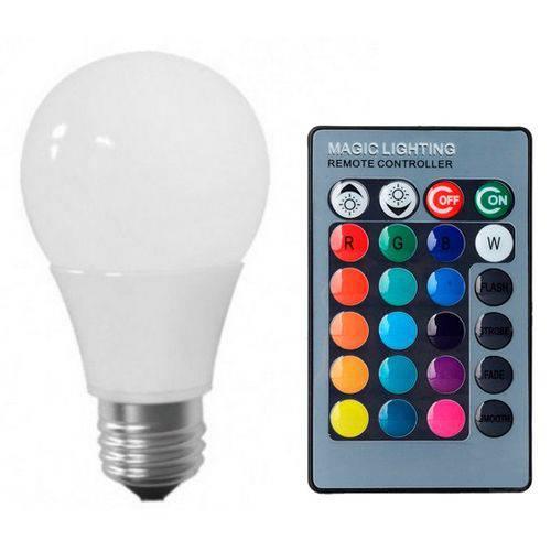 Tudo sobre 'Lâmpada LED Bulbo 05W RGB'