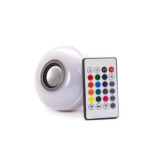 Tudo sobre 'Lâmpada Led - Caixa de Som Bluetooth + Controle'