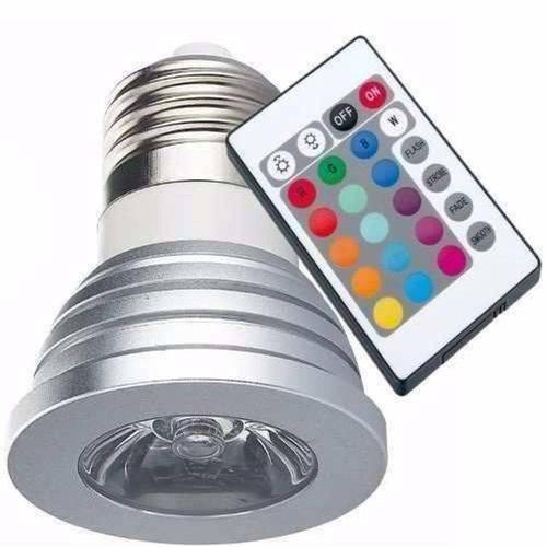 Tudo sobre 'Lâmpada Led 3w 16 Cores Rgb + Controle 24 Funções E27 Spot'