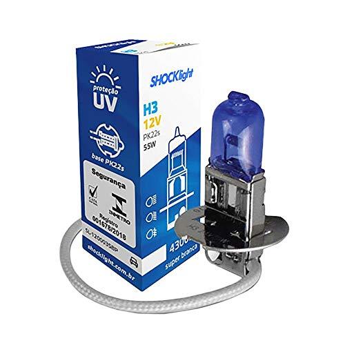 Lampada Shocklight Super Branca H3 12V 55W Unitario