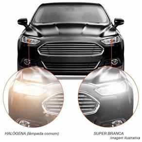 Lâmpada Super Branca H4 4300K 60W 55W 12V Efeito Xênon Aplicação Farol Carro