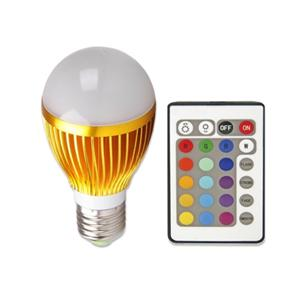 Lâmpada Super LED RGB 5w E-27 Controle Remoto - 100 ~ 240V AC Bivolt
