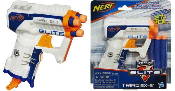 Lançador de Dardos Nerf N-Strike Elite Triad EX-3 - Hasbro