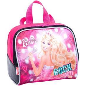 Lancheira Grande Barbie Rock N Royals Rosa Sestini