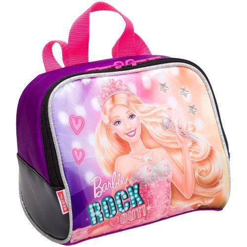 Lancheira Grande Barbie Rock N Royals Roxo - Sestini
