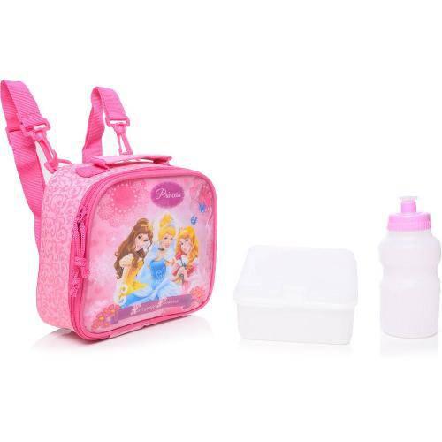 Lancheira Infantil Dermiwil Soft Glitter Rosa Princesas