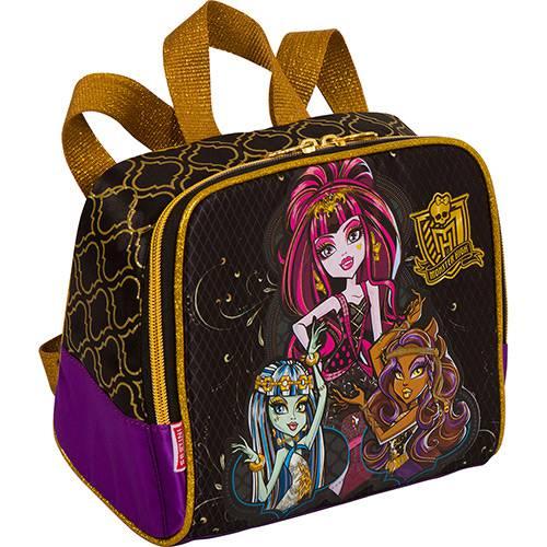 Lancheira Monster High Preta e Dourada - Sestini