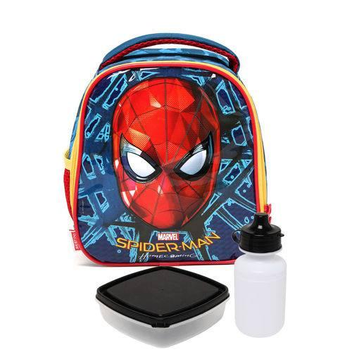 Lancheira Sestini G Spiderman 18 X Azul/Vermelha