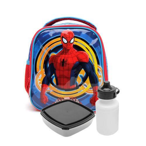Lancheira Sestini Infantil Spider-Man 17X Azul/Vermelha