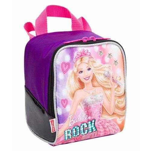 Lancheira Soft com Acessórios Barbie Rock'n Royals Roxa 64350-08 - Sestini