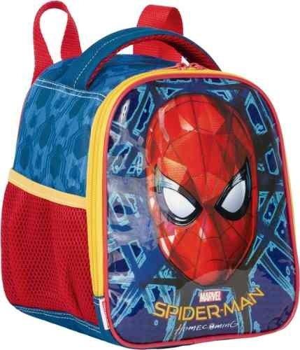 Lancheira Térmica Homem Aranha Spiderman Original Azul