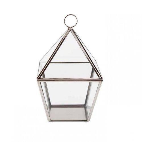 Tudo sobre 'Lanterna Decorativa de Metal e Vidro 23,5cmx13cmx9cm Vênus Victrix Transparente'