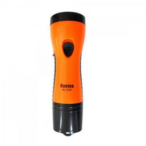 Lanterna Recarregável com 5 Leds Bivolt Preto/laranja 33026 Genérico