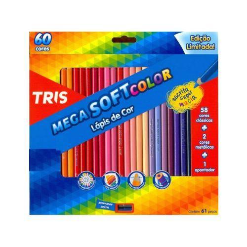 Tudo sobre 'Lápis 60 Cores Tris Mega Soft +Apontador'