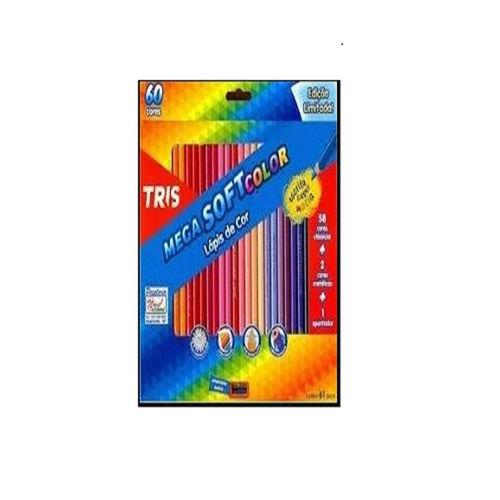 Lápis Cor 60 Cores Tris Mega Soft Color com Apontador 684062