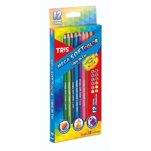 Lapis de Cor 12 Cores Tris Mega Soft Color (Tris)