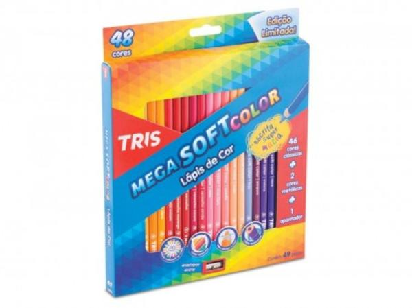 Lápis de Cor 48 Cores Mega Soft Color Tris