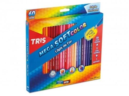Lápis de Cor 60 Cores Mega Soft Color Tris