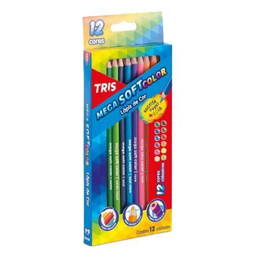 Lapis de Cor Mega Soft Color 12 Cores Tris