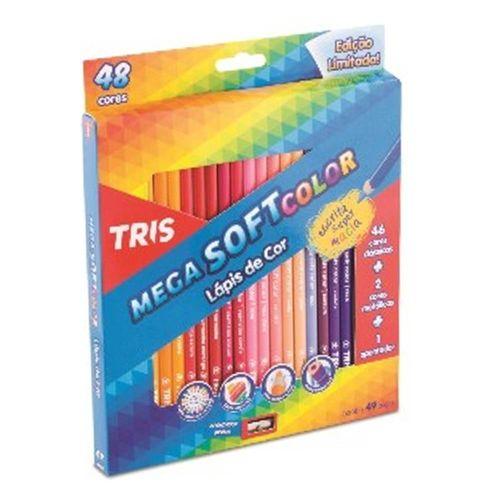 Lapis de Cor Mega Soft Color 48 Cores com Apontador Tris