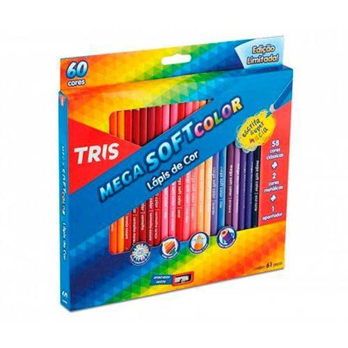 Lápis de Cor Mega Soft Color 60 Cores 684062 - Tris