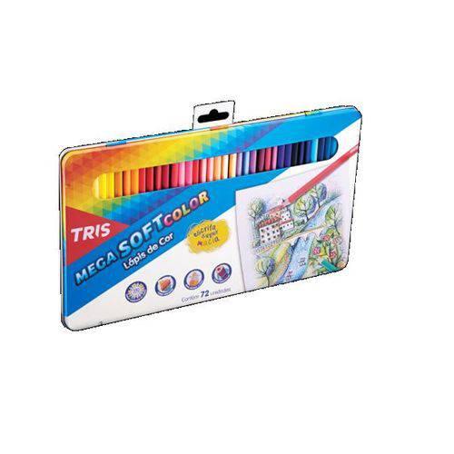 Lapis de Cor Mega Soft Color 72 Cores Tris
