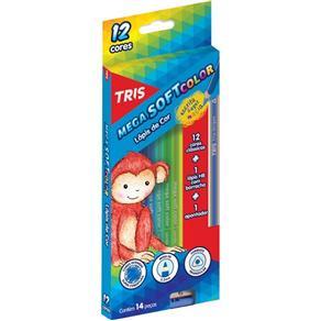 Lapis de Cor Sextavado Mega Soft Color 24Cores Summit