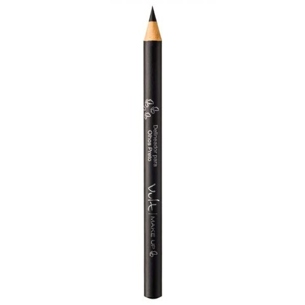 Lápis de Madeira para Olhos - Preto - Make Up - Vult