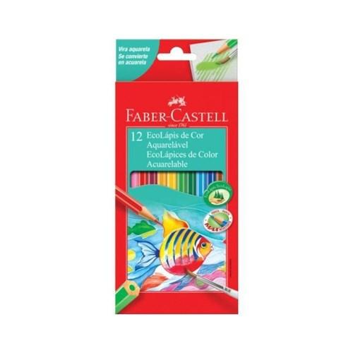 Lápis Faber-Castell 12 Cores Aquarelável