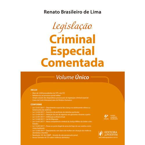 Legislação Criminal Especial Comentada (2018) - Volume Único
