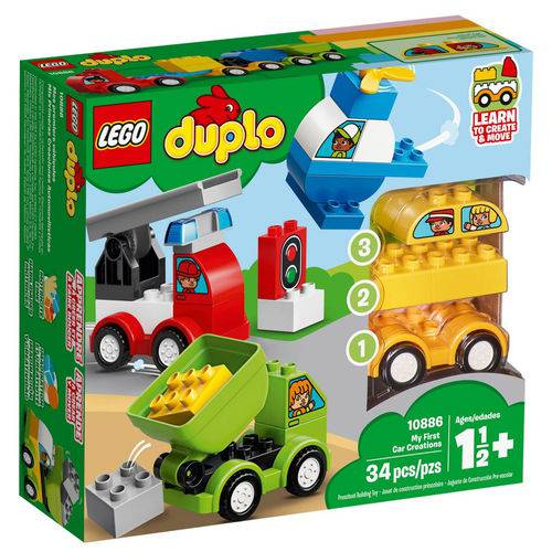 Tudo sobre 'Lego Duplo - Meus Primeiros Veículos - 10886'