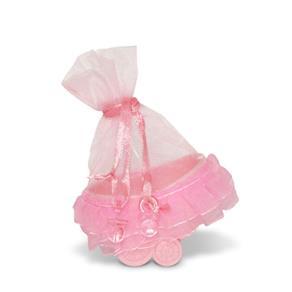 Lembrancinha Carrinho de Bebê Rosa