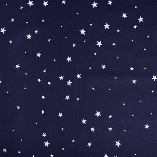 Lençol Elástico Estrela Azul Marinho (Solteiro)
