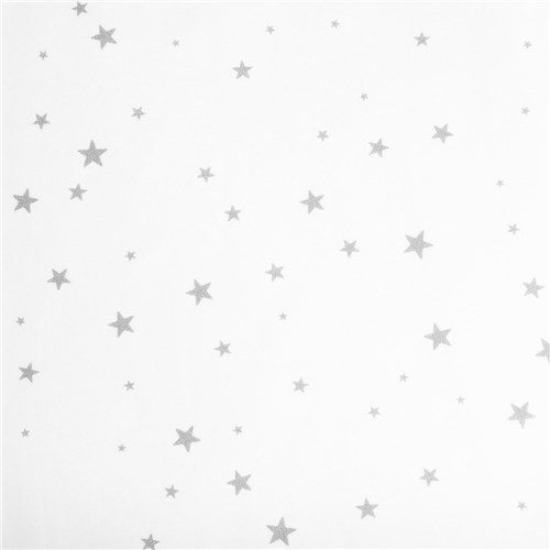 Lençol Elástico Estrela Cinza (Solteiro)