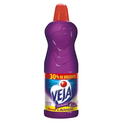 Limpador Perfumado Veja 1l Gratis 30% Lavanda