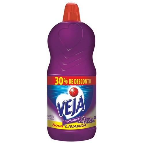 Limpador Perfumado Veja 2l 30% Desconto Lavanda