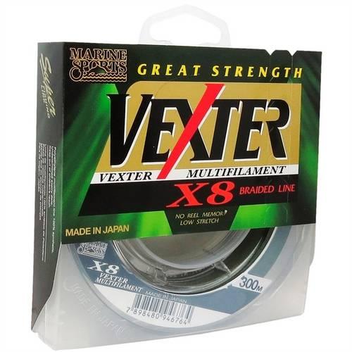 Tudo sobre 'Linha Vexter X8 Multifilamento 300M 0.29Mm Marine Sports'