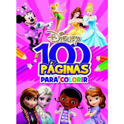 Livro - 100 Paginas para Colorir Meninas