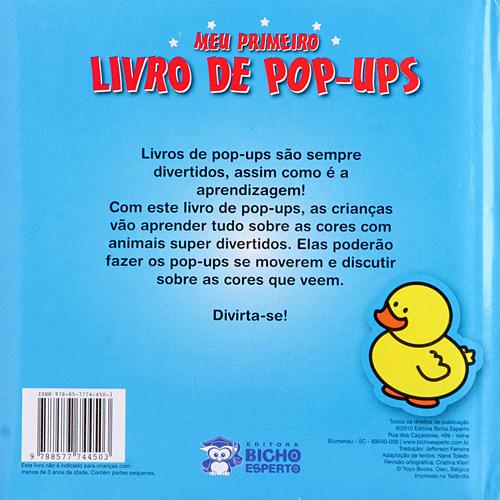 Livro - Cores - Meu Primeiro Livro de Pop-ups