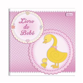 Livro do Bebê Menina com 34 Folhas Tilibra