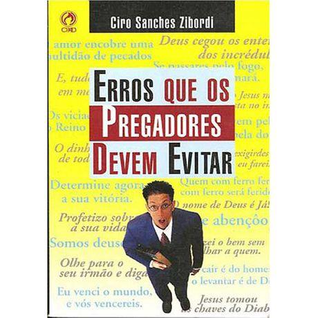 Livro Erros que os Pregadores Devem Evitar