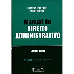 Livro - Manual de Direito Administrativo: Volume Único