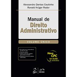 Livro - Manual de Direito Administrativo - Volume Único
