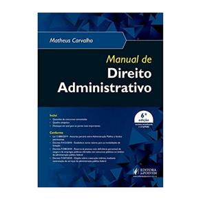 Livro Manual de Direito Administrativo