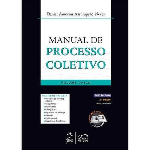 Livro - Manual de Processo Coletivo - Volume Único